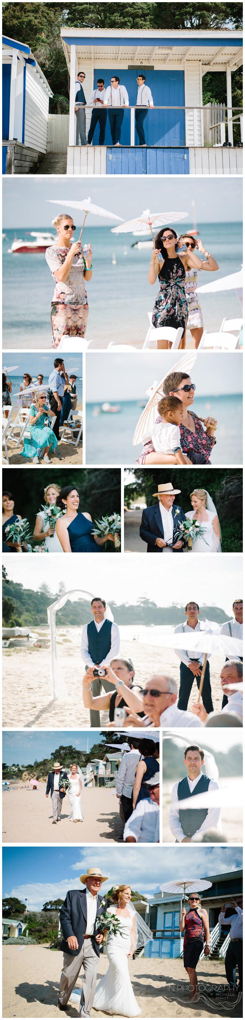 Portsea Beach wedding ceremony