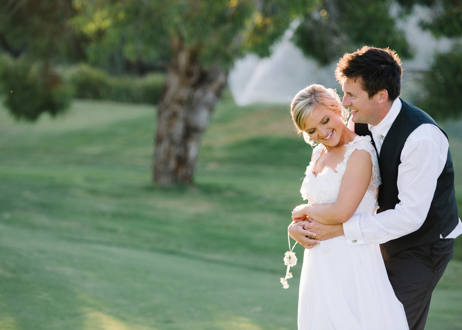 bride and groom at Eagle Ridge Golf Course