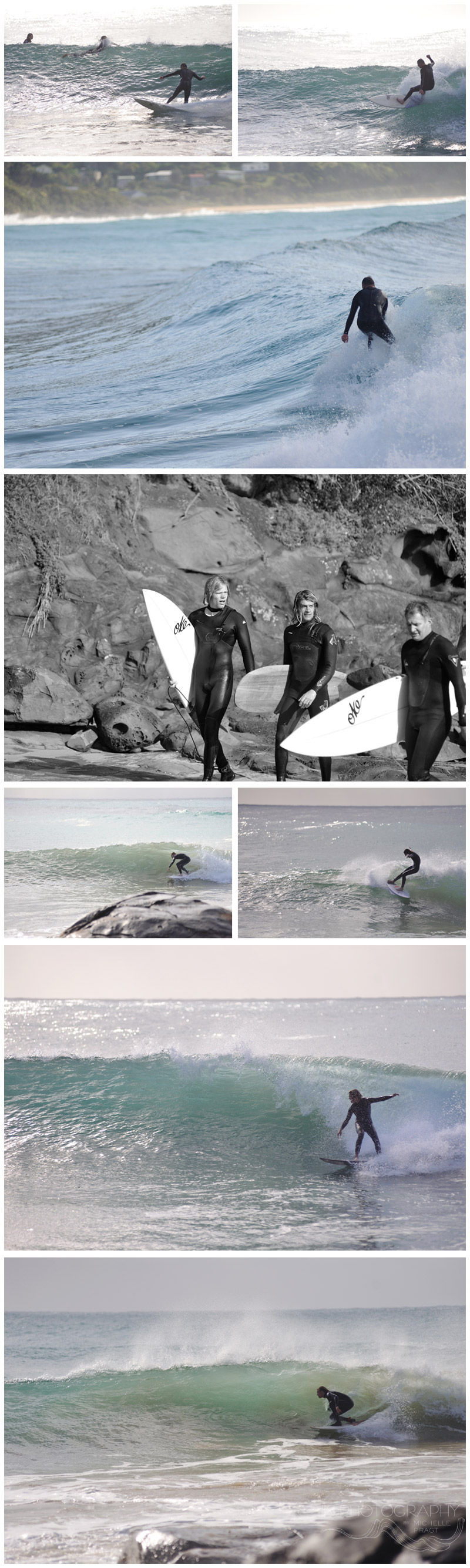 Surfers at Wye River