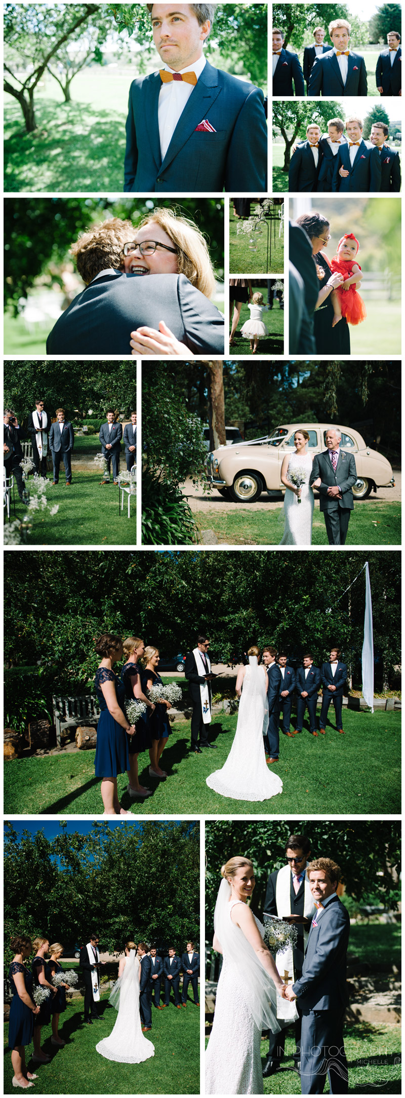 wedding ceremony at Red hill venue