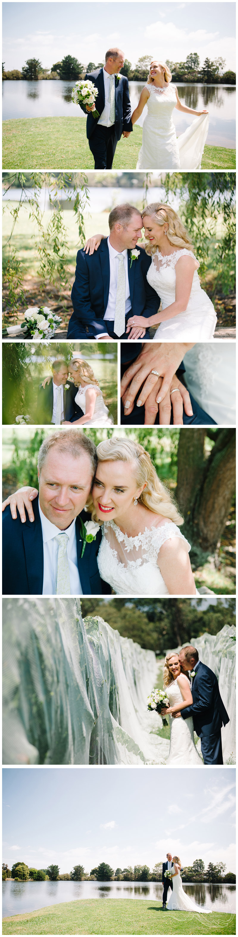 bride and groom images at Stillwater on Mornington peninsula