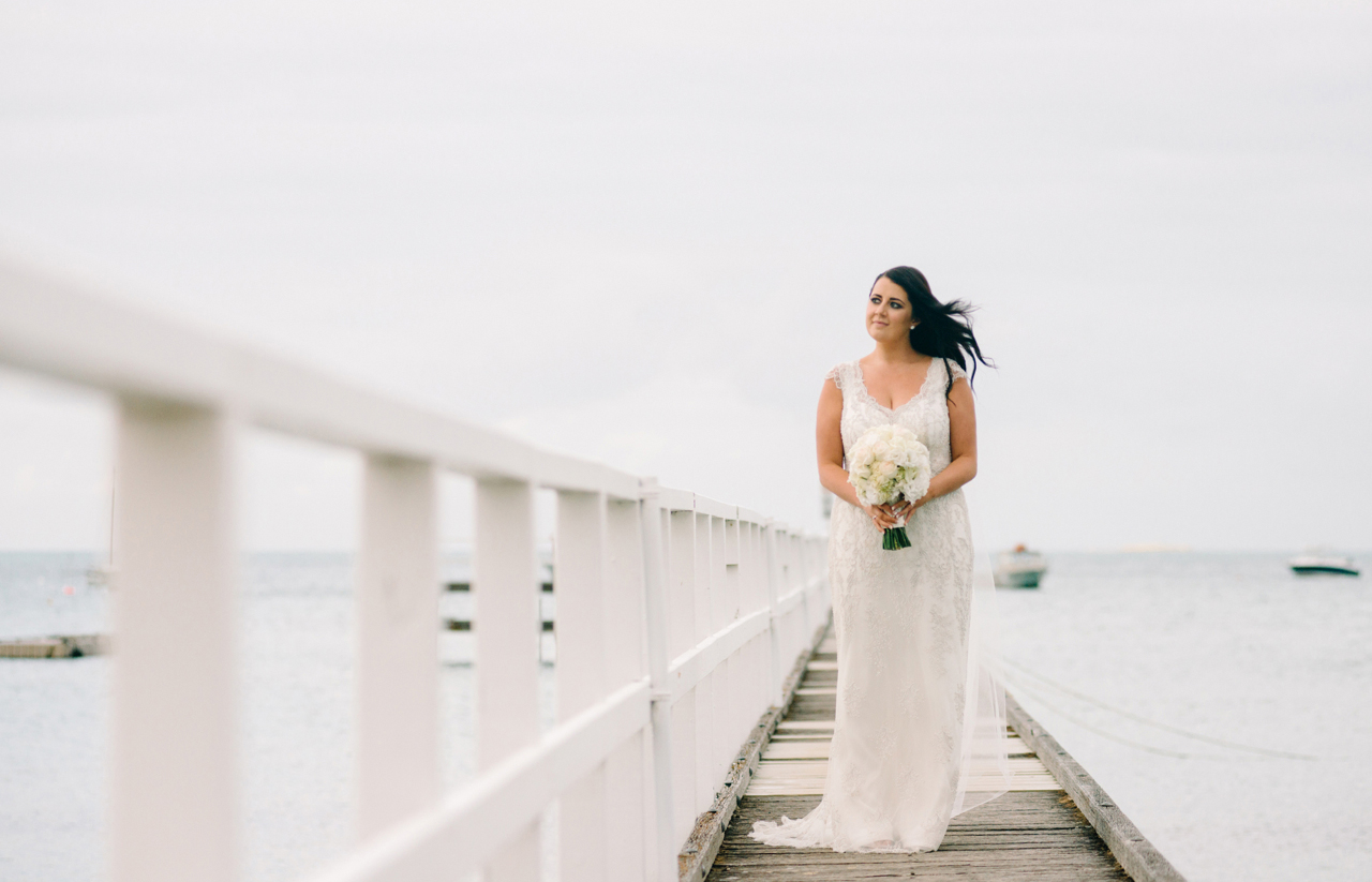 bride on jetty