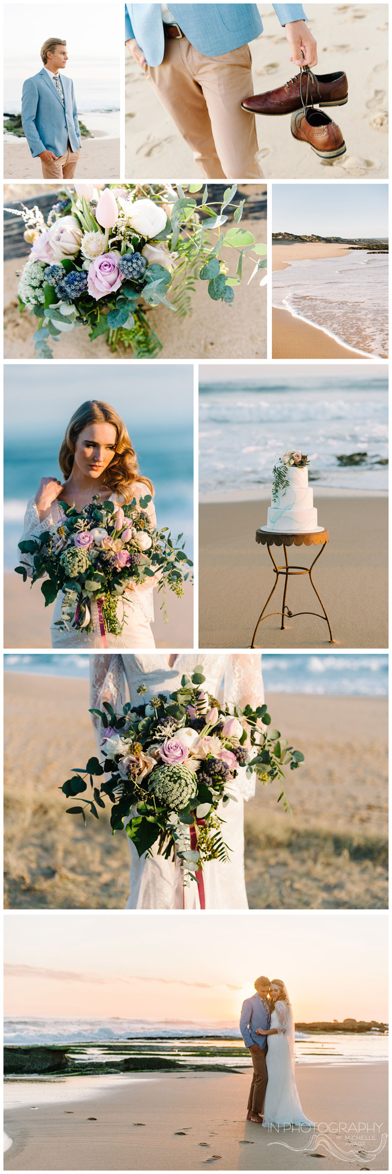 boho beach wedding at sunset