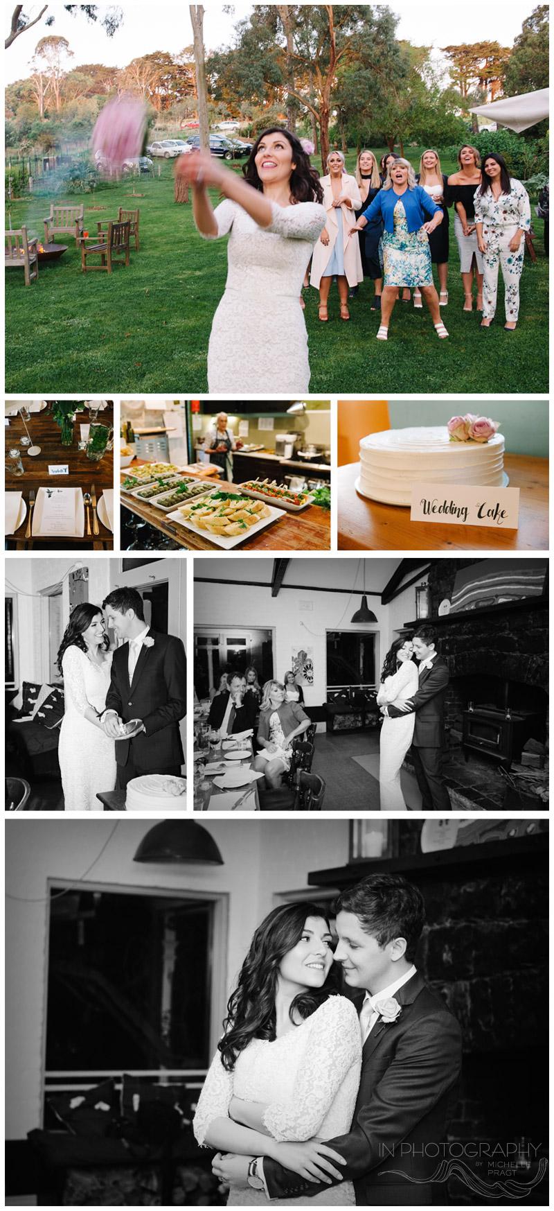 wedding reception on Mornington peninsula health retreat
