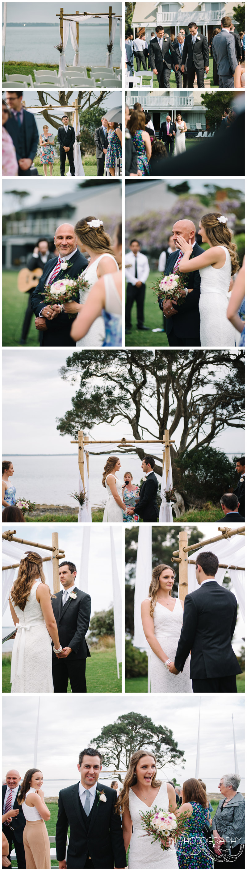 casual backyard wedding ceremony