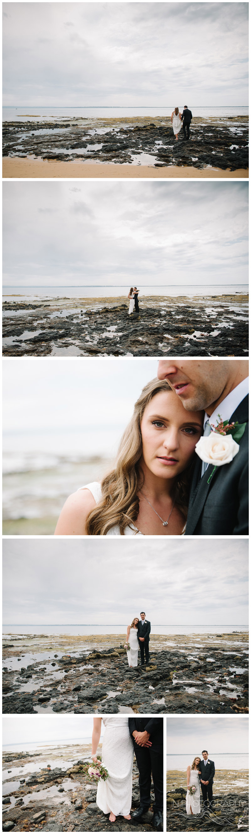 Cowes beach wedding photographs