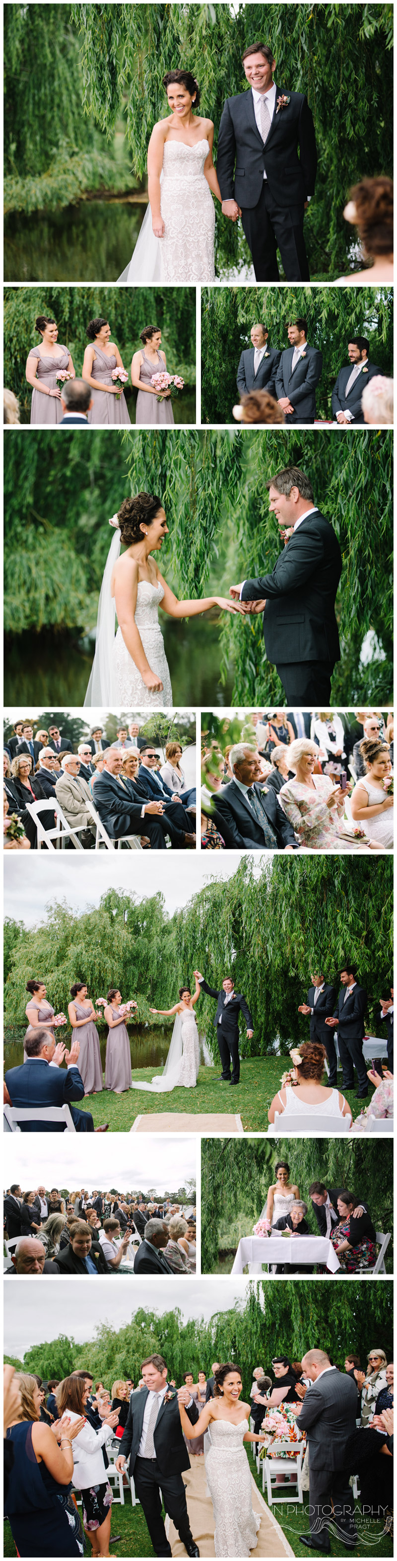 garden wedding ceremony at Stillwater at Crittenden