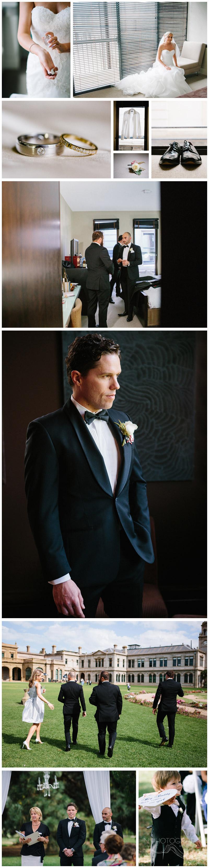 groom at Werribee Mansion wedding