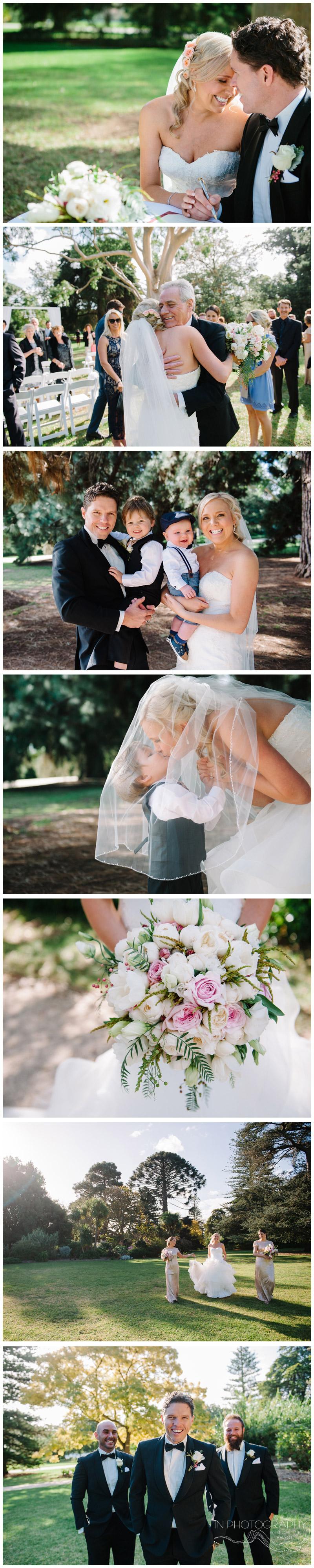 garden wedding ceremony at Werribee Mansion