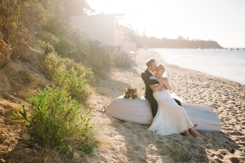 Beach wedding by Mornington Peninsula wedding photographer Michelle Pragt
