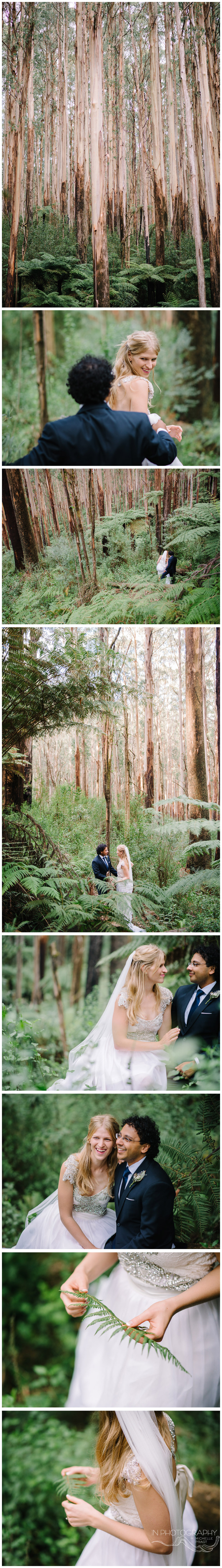 Yarra Valley forest wedding photography