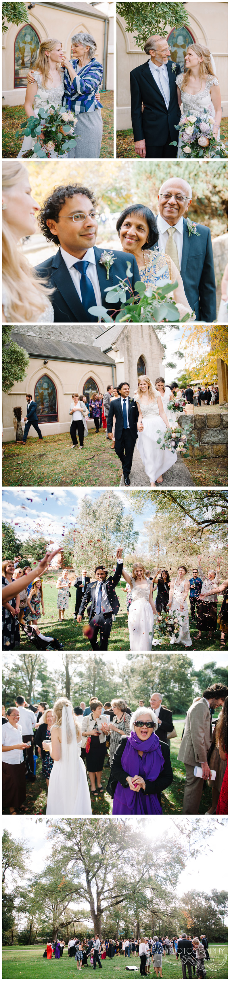 Yarra Valley garden wedding party