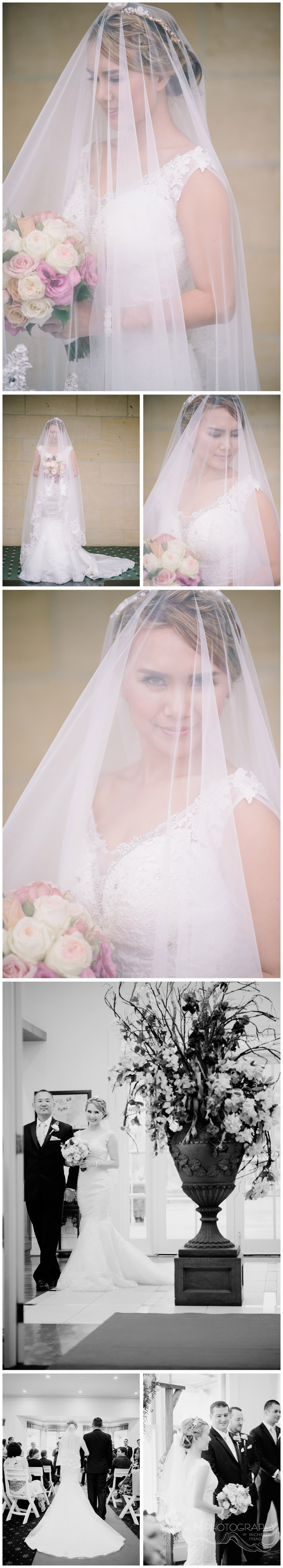 wedding veil photographed by Michelle Pragt