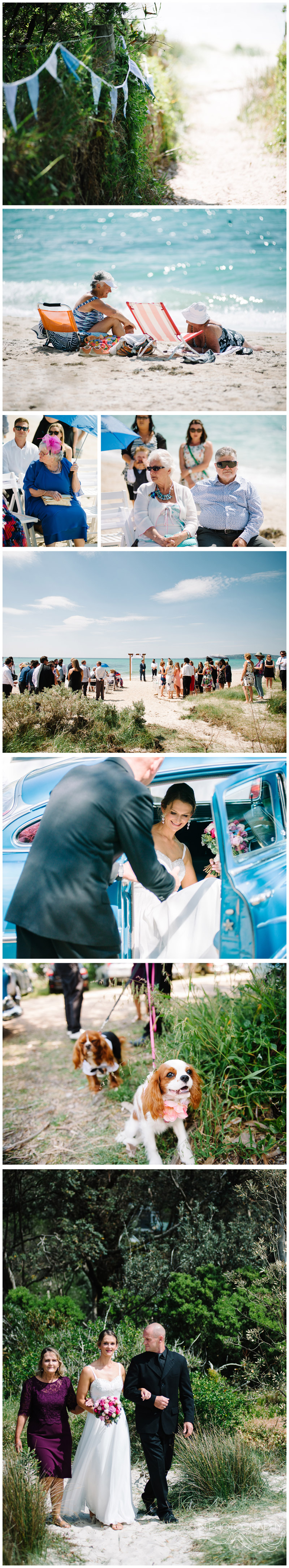 McRae beach wedding ceremony