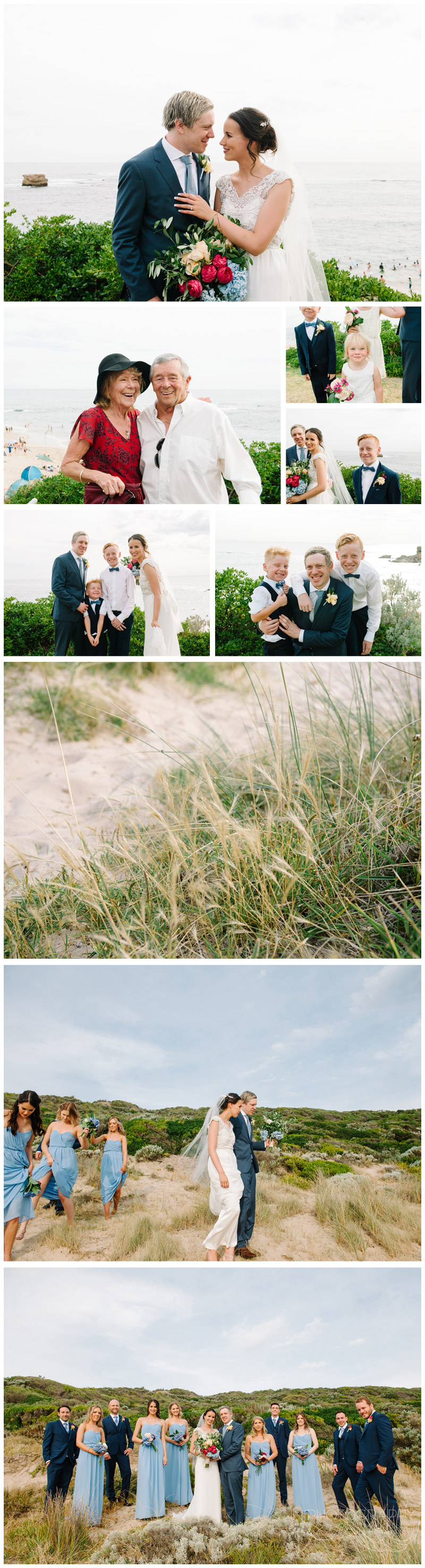 Mornington Peninsula beach wedding by Michelle Pragt