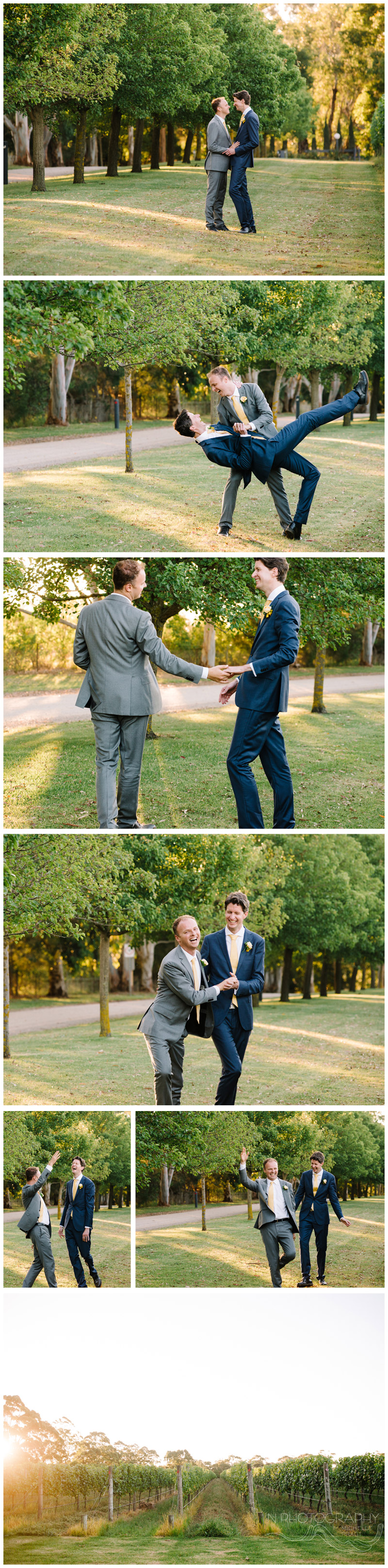 gay wedding photography at Mornington Peninsula wedding venue