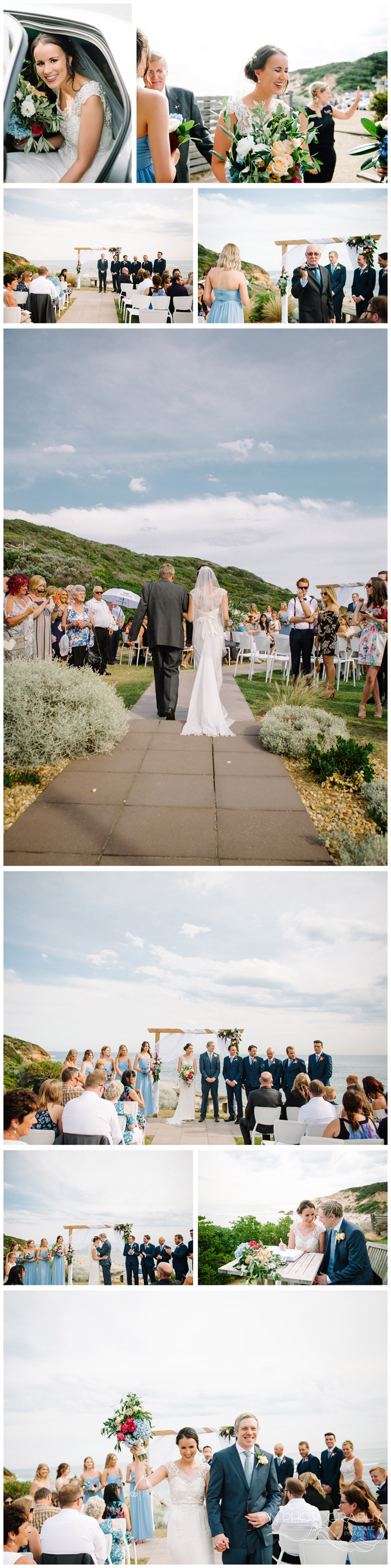 Mornington Peninsula wedding ceremony