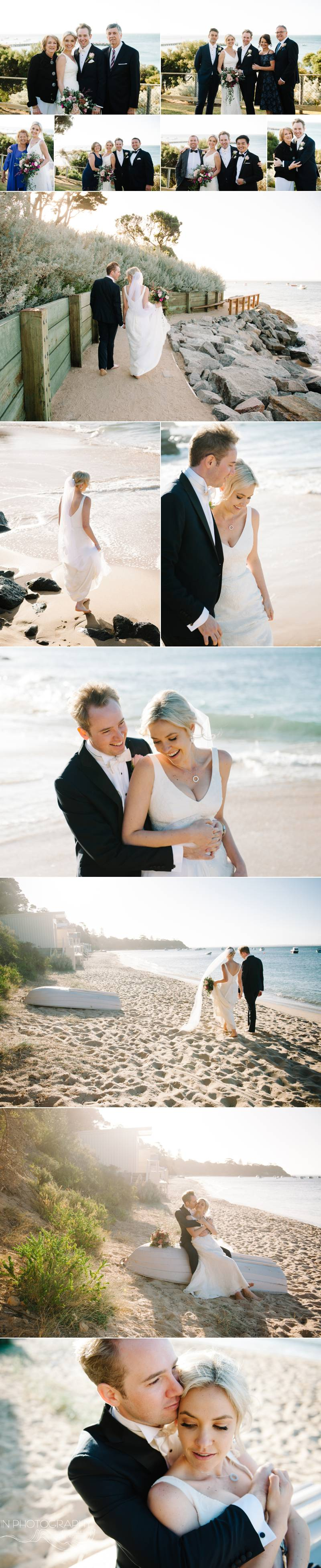 Mornington Peninsula beach wedding photographs