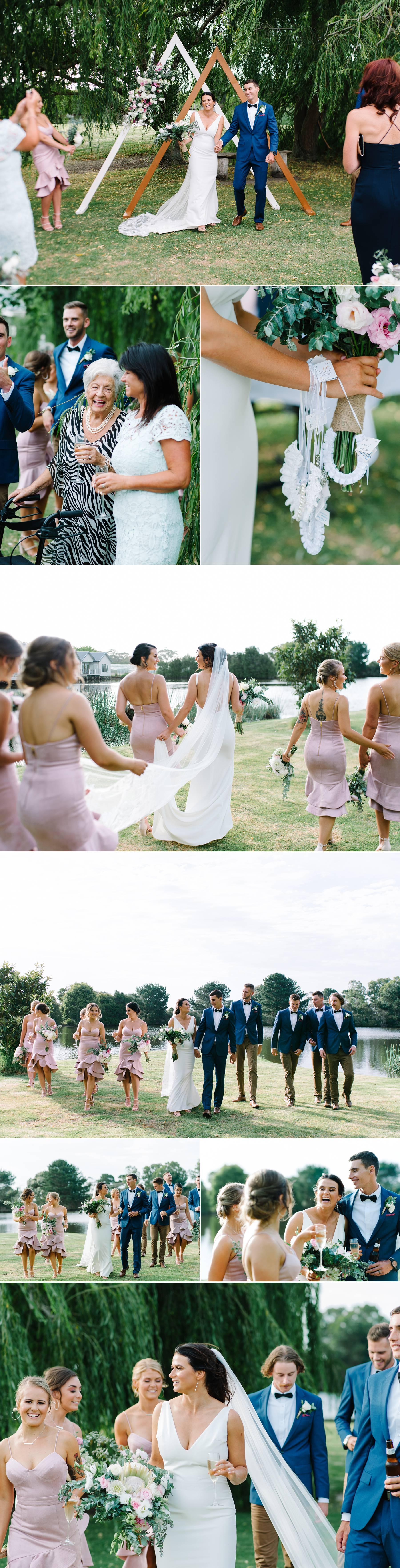 Mornington peninsula wedding ceremony photographs by Michelle Pragt