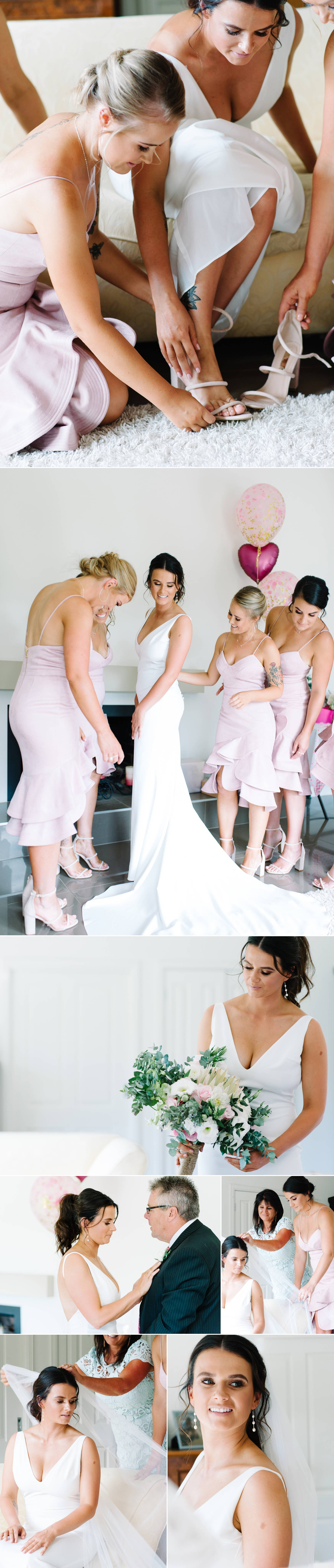 Bridesmaids by Mornington peninsula wedding photographer Michelle Pragt