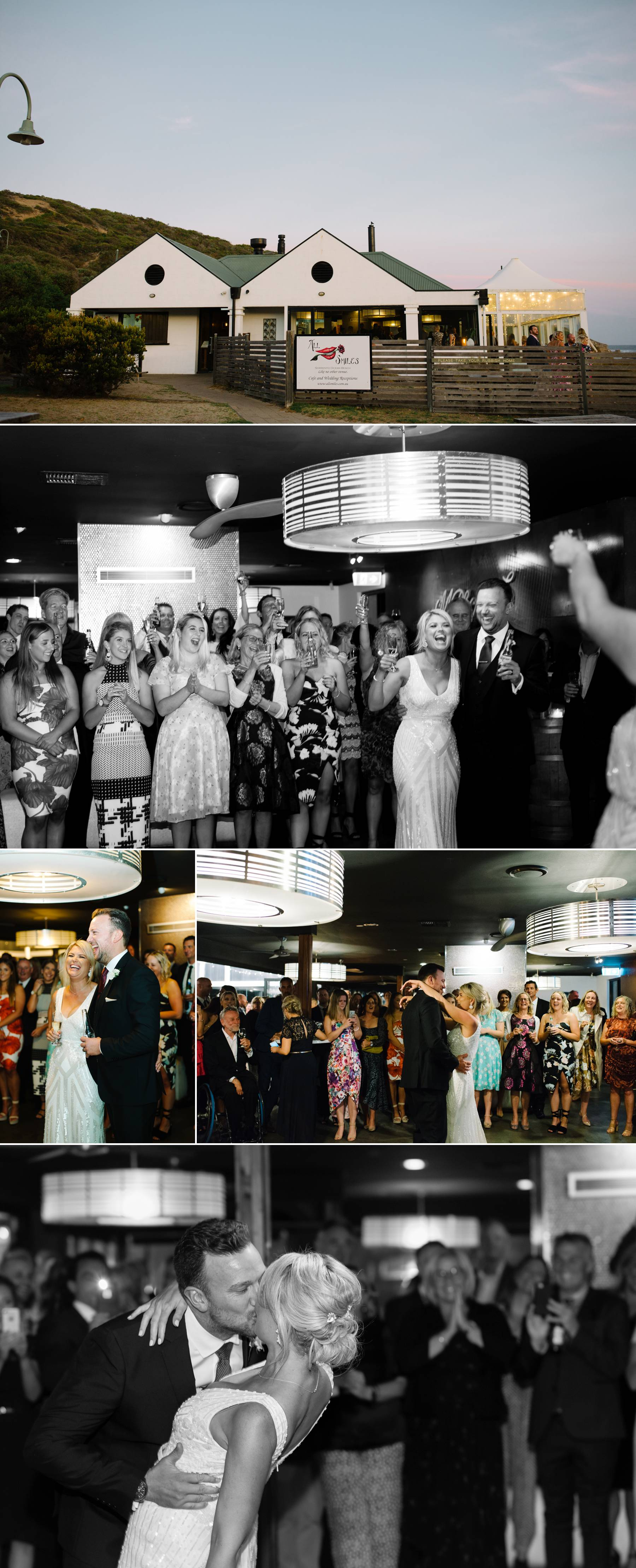 Wedding reception at All Smiles photography by Michelle Pragt