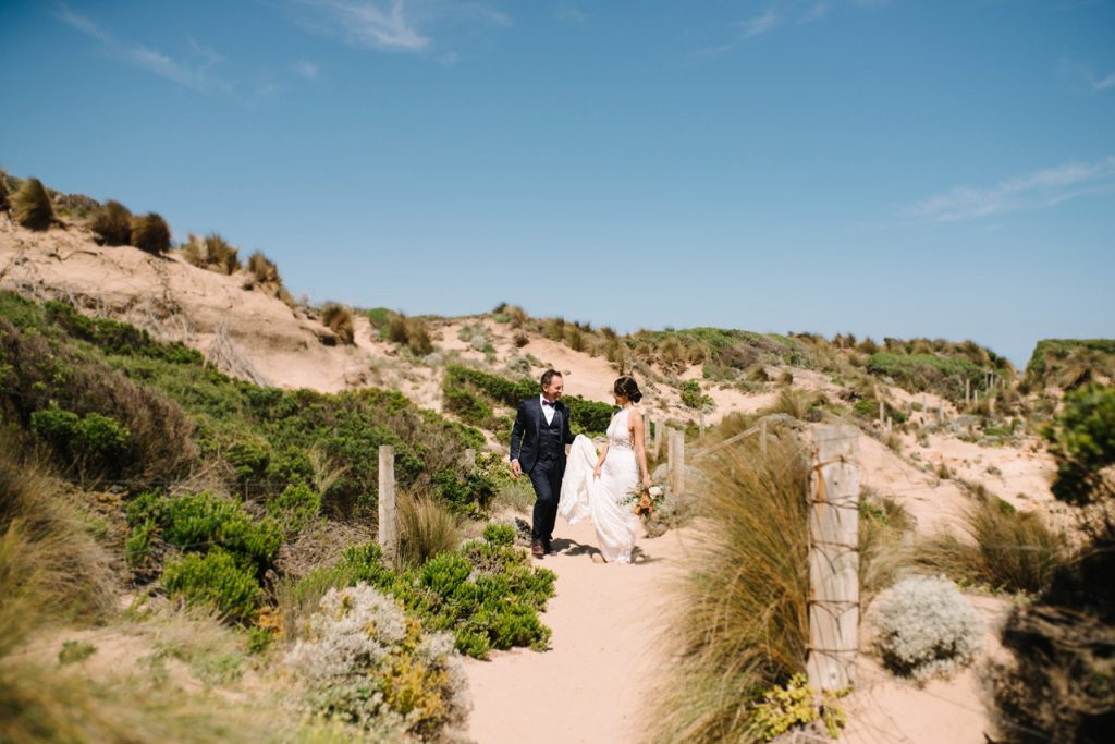 Mornington peninsula beach wedding photography