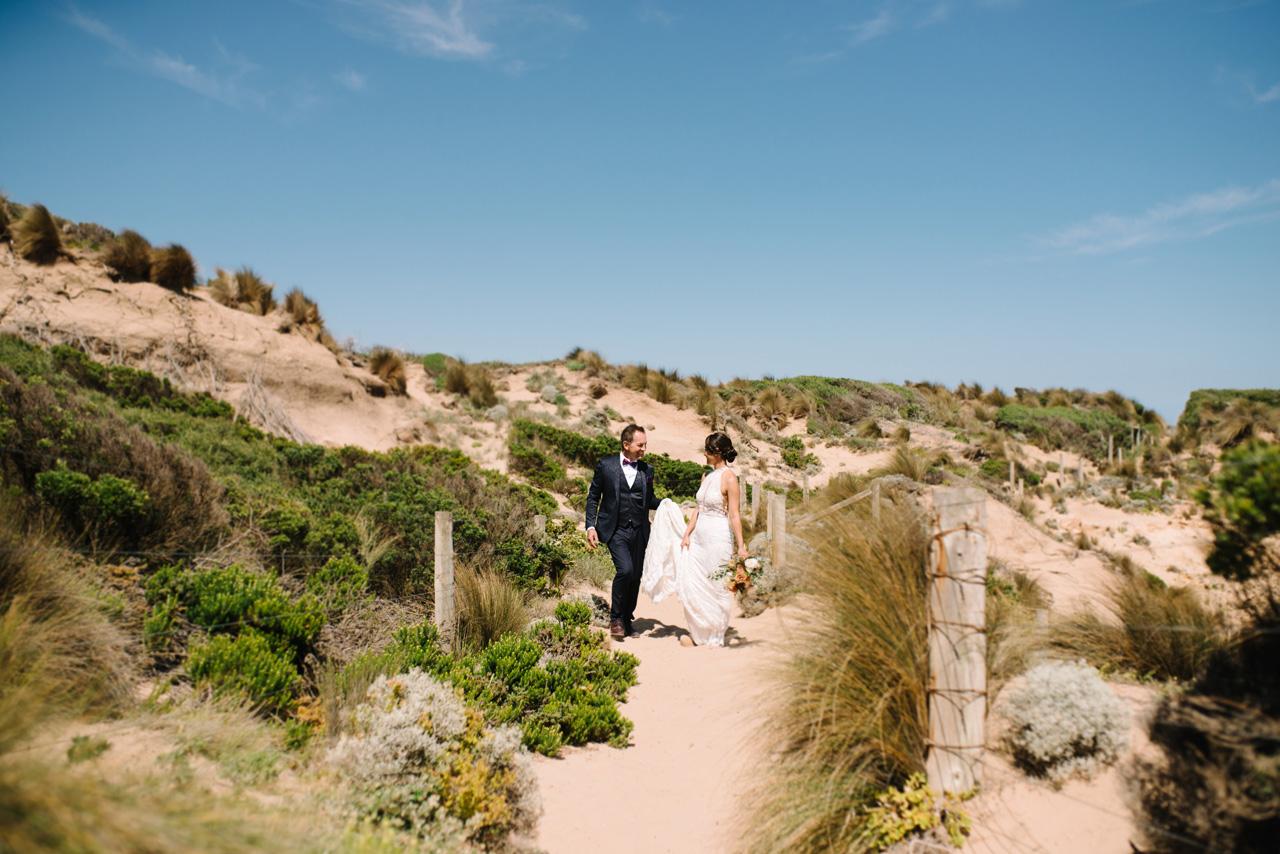 Mornington peninsula beach wedding photography